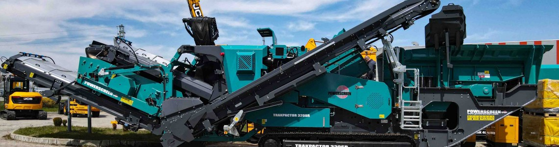 """Роторна трошачка Powerscreen Trakpactor 320SR, оборудвана с дву-площен ситов възел вече работи по изграждането на АМ""""Хемус"""""""